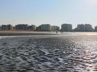 Het strand van Koksijde. Vue sur la plage de Coxyde